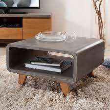 meuble bout de canapé bout de canapé bois béton ciré cast univers salon et petits meubles