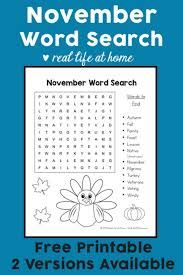 free printable november word search printable puzzle for