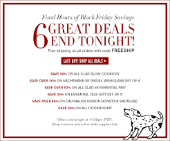 calphalon black friday deals williams sonoma hours left 6 black friday deals up to 50 off