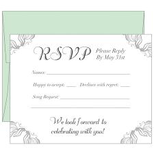 wedding sles rsvp slips wedding response cards printing uk print rsvp card