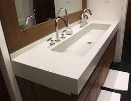 trough sink two faucets sinks undermount trough sink 36 inch undermouth bathroom sink