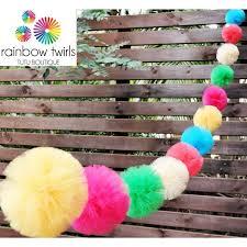 Tulle Decorations Tulle Decorations U2013 Rainbow Twirls Tutu Boutique