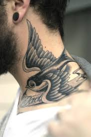 neck tattoos for ideas flying bird with quotes fashion