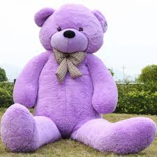 teddy bears 91 purple teddy 7 5 ft well stuffed