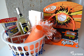 basketball gift basket march madness themed date diy playbook