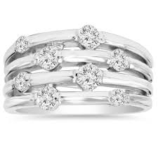 hand rings jewellery images 14k white gold 1ct tdw journey diamond right hand ring free jpg