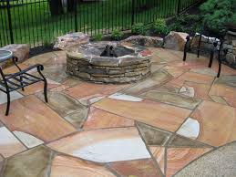 Patio And Firepit by Patios Walkways And Walls Burkholder Landscape