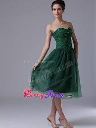 green sweetheart a line tulle beaded short dress for prom