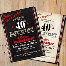 graphic design birthday invitations 40th surprise birthday invitation 50th 60th 70th 80th