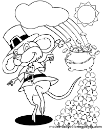 st patrick u0027s day coloring pages holiday