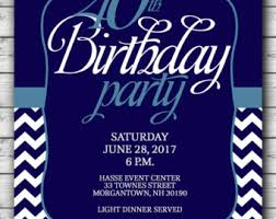 18th birthday party invitation for man male blue silver