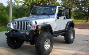 jeep wrangler tj rubicon for sale jeep tj wrangler rubicon lifted mud truck silver