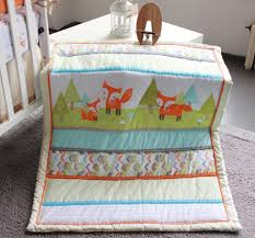7 pcs prairie fox baby bedding set baby cradle crib cot bedding