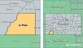 colorado population map la plata county colorado map of la plata county co where is