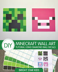 Minecraft Bedroom Decals by Minecraft Wall Art Tutorial Using Wall Decals