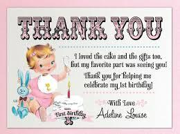 vintage birthday thank you card