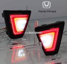led bumper backup lights honda fit jazz led bumper l reflectors taillight brake backup