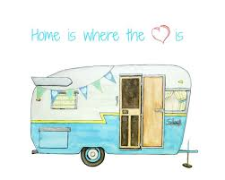retro campers camper trailer clipart with awesome style fakrub com
