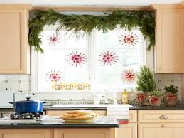 window christmas decorating ideas casual kitchen window treatments
