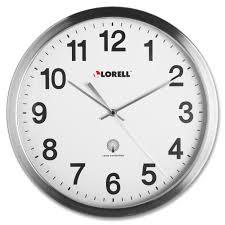 lorell 61001 brushed nickel plated atomic wall clock analog