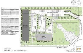 building site plan britannia housing project stratford