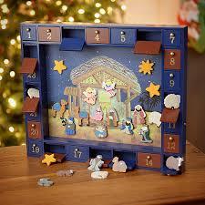 nativity advent calendar wooden nativity advent calendar