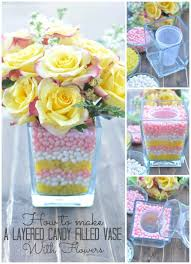 Pictures Of Vases With Flowers Diy Jelly Bean Vase With Flowers For National Jelly Bean Day