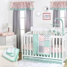 Grey Nursery Bedding Set The Peanut Shell Baby Crib Bedding Set Coral Pink