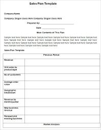 sample sales plans