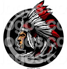 royalty free vector of a logo of a native american indian chief