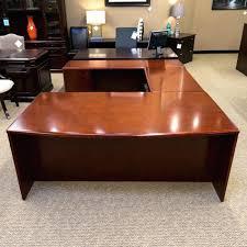 Kidney Shaped Executive Desk U Shaped Executive Desk Mocha Finished U Shaped Executive