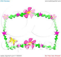 clipart flowers and butterflies border clipart panda free