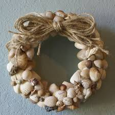 home decoration delightful seashell wreath design with