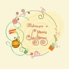 beautiful greeting card design merry christmas celebrations