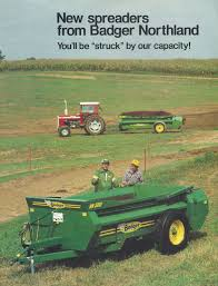 badger manure spreaders farm equipment literature pinterest