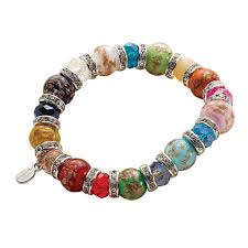 murano glass beads bracelet images Women 39 s murano glass bead bracelet 1 review 5 stars acorn jpg