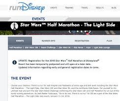 star wars light side half marathon postponed mouseplanet disneyland resort update for october 16 22 2017 by
