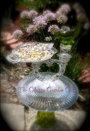 Glass Garden Decor 24 Best Glass Garden Art Bird Feeders Images On Pinterest