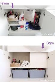 armadietto bagno come mettere in ordine il mobile bagno