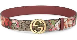 floral belt lyst gucci floral logo print belt