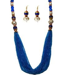 colour pearl necklace images Sagun art jewellers designer sky blue color pearl necklace set jpg