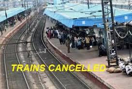 cancellation of trains fire in itarsi rri and non interlocking