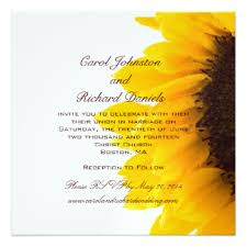 Sunflower Wedding Invitations Sunflower Wedding Invitations U0026 Announcements Zazzle Com Au