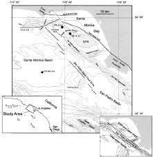 Newport Inglewood Fault Map Geology Of The Continental Margin Beneath Santa Monica Bay