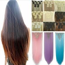 ombre clip in hair extensions ombre clip in hair extensions 8pcs 18clip curly dip dye