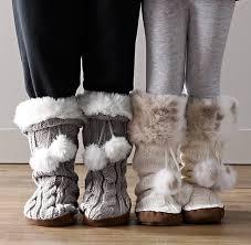 restoration hardware gift knit luxe faux fur slipper socks