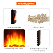 Led Fireplace Heater by 1500w Room Adjustable Led Electric Wall Mount Fireplace Heater