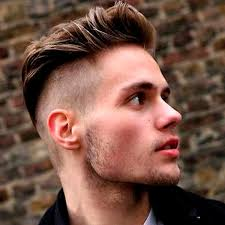 long hair sweeped side fringe shaved undercut hairstyle for men
