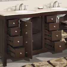 Bathroom Sinks And Cabinets by 72 U201d Perfecta Pa 5126 Bathroom Vanity Double Sink Cabinet Dark
