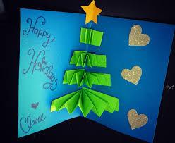 Homemade Christmas Card Ideas by Last Minute Diy Pop Up Christmas Card Youtube